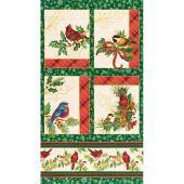 Winter's Grandeur 8 - Holiday Bird Metallic Panel