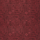 Tuscan Delight - Words Allover Red Yardage