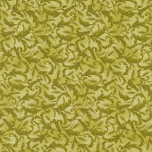 Autumn Beauties - Scroll Leaves Green Yardage