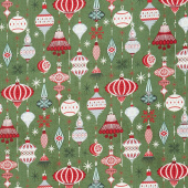 Kringle and Claus - Deck the Halls Holly Yardage