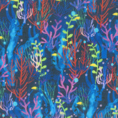Octopus Garden - Coral Tropical Digitally Printed Yardage