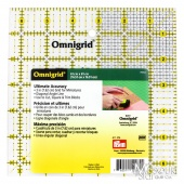 "Omnigrid 6 1/2"" x 6 1/2"" Square Ruler With Grid"
