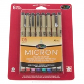 Pigma Micron 05 Pen .45mm 8 Color Set