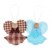 Country Angel Ornament - Assorted Colors