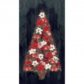 Let It Sparkle - Cozy Christmas Black Digitally Printed Panel