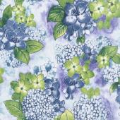 Petal Park - Where Flowers Bloom Hydrangea Fabric Yardage