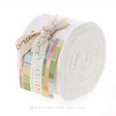 Bella Solids Bleached White Junior Jelly Roll
