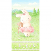 Friendship Blossoms - Bunny and Her Bear Multi Panel
