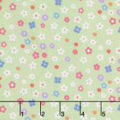 Molang - Flowers Green Yardage
