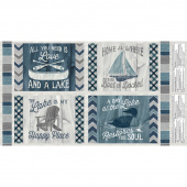 A Day at the Lake - Pillow Place Mat Multi Panel