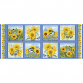 My Sunflower Garden - Block Blue Panel