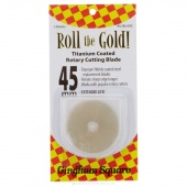45mm Roll The Gold Titanium Rotary Blade (2 pack)