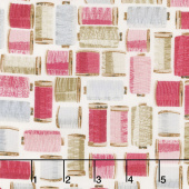 Stitch in Time - Thread Spools Pink Yardage