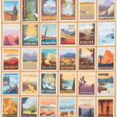 National Parks - Posters Sand Yardage