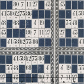 Eclectic Elements:Dapper - Game Cards Blue Yardage