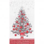 Holiday Flourish 13 - Silver Tree Metallic Panel