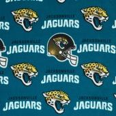 NFL Fleece - Jacksonville Jaguars Teal Yardage