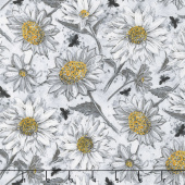 A Bee's Life - Daisy Allover Gray Yardage
