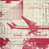 Eclectic Elements - Correspondence Jet Setter Red Yardage