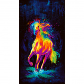 Painted Horse - Painted Horse Black Digitally Printed Panel