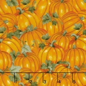 Colors of Fall - Packed Pumpkins Orange Yardage