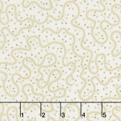 Butter Churn Basics - Swirly Vine Cream Yardage