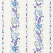 Twilight Garden - Border Stripe Linen Yardage