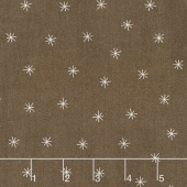 Merrily - Snowy Stars Cocoa Yardage