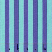 Tula Pink's All Stars - Pom Poms & Stripes Tent Stripe Iris Yardage