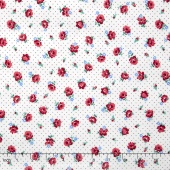 Everything But the Kitchen Sink 2016 - Pindot Posies Rose Red Yardage