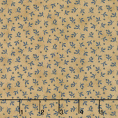 Crystal Lake - Tiny Flowers Tan Yardage