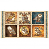 Where the Wise Things Are - Owl Picture Patches Cream Panel