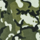 Fleece Novelty Prints - Camouflage Green Yardage