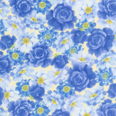 Summer Breeze VI - Packed Floral Yellow Yardage