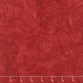 Freedom Batiks - Wavy Dots Cherry Yardage