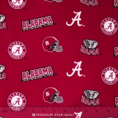 College - University of Alabama Tossed Allover Yardage