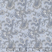 Charming - Paisley Blue Yardage