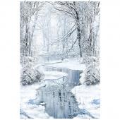 Winter Hike - Winter Wonderland Blue Panel
