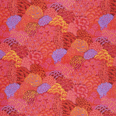 Kaffe Fassett Collective - Stash Scarlet Florals Oriental Trees Red Yardage