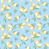 The Berry Best - Lemon Toss Light Blue Yardage