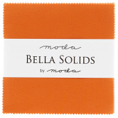 Bella Solids Orange Charm Pack