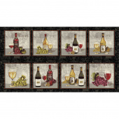 Wine Night - Blocks Black Panel