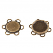 Sew-On Magnetic Snap - 18mm Antique Brass