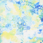 Gradients 2 - Splash Watercolor Garden Digitally Printed Yardage