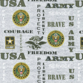 Military - Army Words Green Yardage