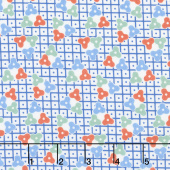 Lottie Ruth - Lattice Blue Yardage