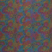 Art Theory - Rainbow Stitched Night Yardage