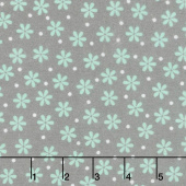 Cozy Cotton Flannels - Mint Flowers Shadow Yardage