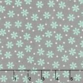 Cozy Cotton Flannels - Mint Flowers Shadow Yardage