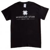 Missouri Star Large T-Shirt - Black with White Logo